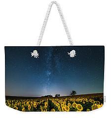 Sunflower Galaxy Weekender Tote Bag