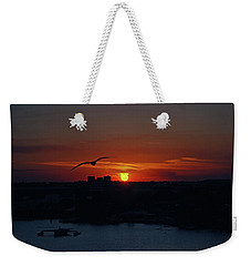 Weekender Tote Bag featuring the photograph 6- Sunset by Joseph Keane