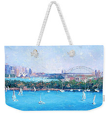 Sydney Harbour And The Opera House By Jan Matson Weekender Tote Bag