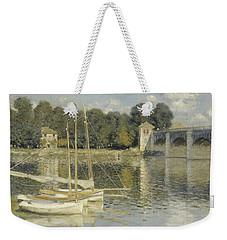 The Argenteuil Bridge Weekender Tote Bag by Claude Monet