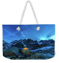 Mountain Trekking Weekender Tote Bag