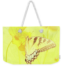 Tiger Swallowtail Butterfly On Cosmos Flower Weekender Tote Bag by A Gurmankin