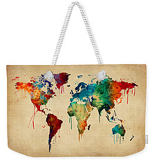 Watercolor Map Of The World Map Weekender Tote Bag