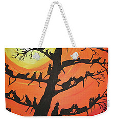 60 Cats In The Love Tree Weekender Tote Bag