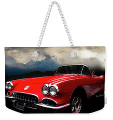 60 Corvette Roadster In Red Weekender Tote Bag
