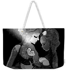 Weekender Tote Bag featuring the digital art 826 - The Child by Irmgard Schoendorf Welch