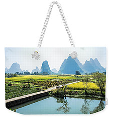 Rice Fields Scenery In Autumn Weekender Tote Bag