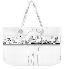 6.51.hungary-6-horizontal-with-figure Weekender Tote Bag