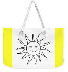 6.57.hungary-6-detail-sun-with-smile Weekender Tote Bag