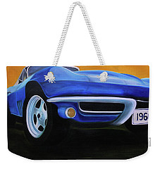 66 Corvette - Blue Weekender Tote Bag