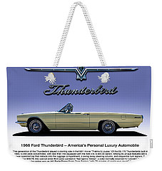 Weekender Tote Bag featuring the digital art 66 T-bird Display Piece by Douglas Pittman