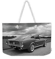 67 Fastback Mustang In Black And White Weekender Tote Bag