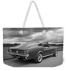 67 Fastback Mustang In Black And White Weekender Tote Bag