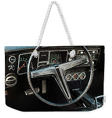 Weekender Tote Bag featuring the photograph 68 Chevy Ss 2-door Hardtop by Trey Foerster