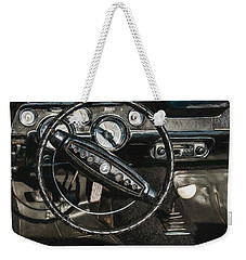 Weekender Tote Bag featuring the photograph 68 Ford Mustang by Trey Foerster