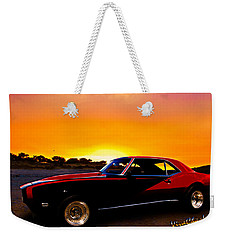 69 Camaro Up At Rocky Ridge For Sunset Weekender Tote Bag