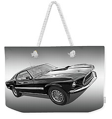 69 Mach1 In Black And White Weekender Tote Bag