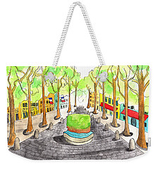 Cours Mirabeau With Trees And Fountain  Weekender Tote Bag