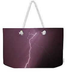 Weekender Tote Bag featuring the photograph 7-17-16 Lighting Storms by Elaine Malott