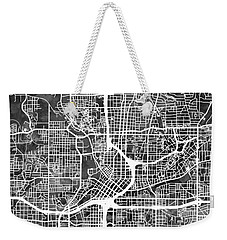 Atlanta Georgia City Map Weekender Tote Bag by Michael Tompsett