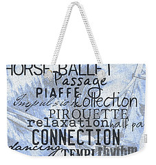 Be Equestrian Blue Weekender Tote Bag