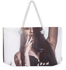 Weekender Tote Bag featuring the photograph C'est Un Beau Roman by Traven Milovich