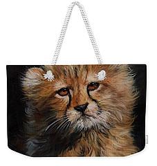 Cheetah Cub Weekender Tote Bag by David Stribbling
