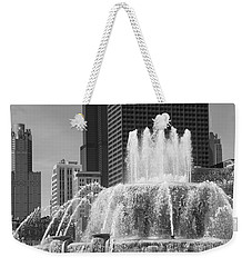 Chicago Skyline And Buckingham Fountain Weekender Tote Bag