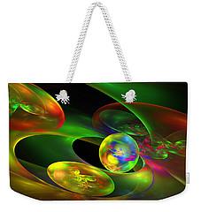 Computer Generated Planet Sphere Abstract Fractal Flame Modern Art Weekender Tote Bag by Keith Webber Jr