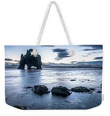 Dinosaur Rock Beach In Iceland Weekender Tote Bag by Joe Belanger