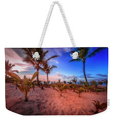 Weekender Tote Bag featuring the photograph Dominicana Beach by Peter Lakomy