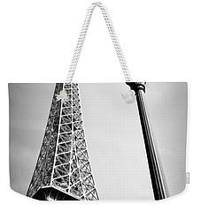 Weekender Tote Bag featuring the photograph Eiffel Tower by Chevy Fleet