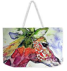Giraffe  Weekender Tote Bag by Kovacs Anna Brigitta