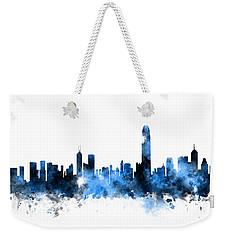 Hong Kong Skyline Weekender Tote Bag by Michael Tompsett