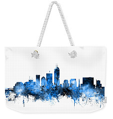 Indianapolis Indiana Skyline Weekender Tote Bag by Michael Tompsett