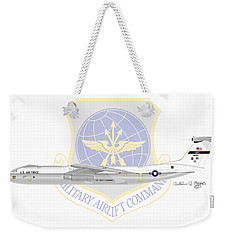 Weekender Tote Bag featuring the digital art Lockheed C-141a Starlifter by Arthur Eggers