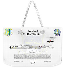 Lockheed C-141a Starlifter Weekender Tote Bag by Arthur Eggers