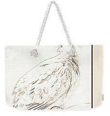 Weekender Tote Bag featuring the photograph Mourning Dove, Animal Portrait by A Gurmankin