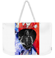 Neil Young Art Weekender Tote Bag by Marvin Blaine