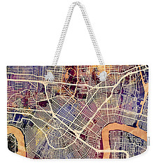 New Orleans Street Map Weekender Tote Bag