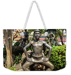 Thai Yoga Statue At Famous Wat Pho Temple Weekender Tote Bag