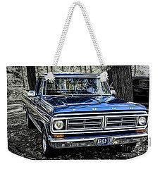 Weekender Tote Bag featuring the photograph 73 Ford Pickup by Brad Allen Fine Art