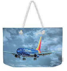 Weekender Tote Bag featuring the photograph 737 by Guy Whiteley