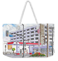 76 Gas Station In 3rd Street And Robertson Blvd, Beverly Hills, California Weekender Tote Bag