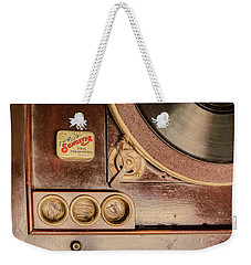 Weekender Tote Bag featuring the photograph 78 Rpm And Accessories by Gary Slawsky