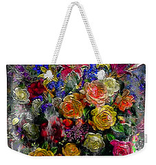 7a Abstract Floral Painting Digital Expressionism Weekender Tote Bag