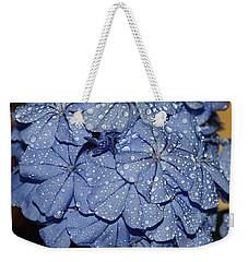 Blue Plumbago Weekender Tote Bag by Elvira Ladocki
