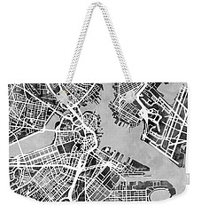 Boston Massachusetts Street Map Weekender Tote Bag