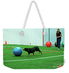 Weekender Tote Bag featuring the photograph Donna And Berry by Fred Stearns