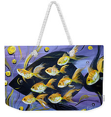 8 Gold Fish Weekender Tote Bag